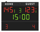 FC54H20 Scoreboard model FC54 with digits height 20cm._Front