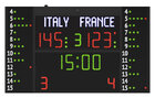 FC54H25N12A1 Scoreboard model FC54 with side panels for number and fouls of 12 players_Front_fauls