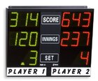 electronic scoreboard for carambol, snooker, pool, darts