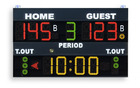 Multisport scoreboard for sport palaces and school gyms and college gyms - Electronic scoreboard