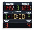 Multisport scoreboard for sport palaces and school gyms and college gyms - Basketball scoreboards - Electronic scoreboard