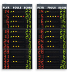 Statistics scoreboards, 2x12 players (Player No. +Fouls +Points),electronic scoreboards