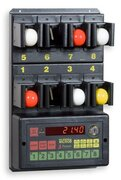 Clocks for hourly rate  for bowls game with control of 4 small balls diam.35-40mm