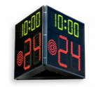 FIBA approved Basketball 24 Second Shot Clock timer and game time, Three-sided