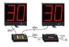 Water polo 30 second shot-clock timer, pair of 30s + console + 24V adapter