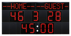 Outdoor scoreboard with programmable team names