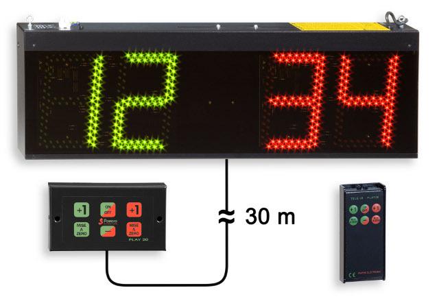 Favero Electronic Ceiling Scoreboard Bowls Bocce Games