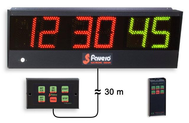 Favero Cron 243 Metro Tablero Electr 243 Nico Con Reloj Y Cron 243 Metro