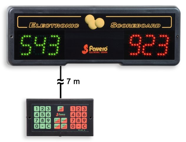 Favero Electronic Scoreboard For Billiards And Table