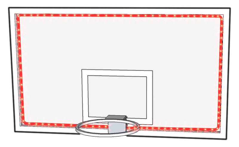 favero led leuchtstreifen f r basketball spielbretter. Black Bedroom Furniture Sets. Home Design Ideas