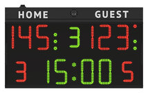 multisport electronic scoreboard FC50H25 with digits height 25cm. (front)