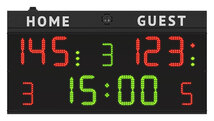 FC50H20 Scoreboard model FC50 with digits height 20cm. - front