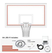 Perimeter light and Control unit for backball backboard. Light of end time.