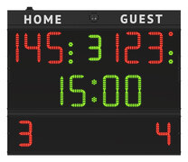 FC54H25 Multisport scoreboard suitable for multidiscipline use (basketball, volleyball, futsal, etc.)_front_fauls