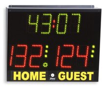Basketball Scoreboard, Electronic scoreboard with timer for volley, five-players football, table tennis