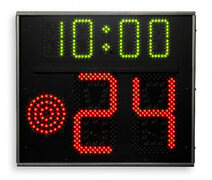 FIBA approved Basketball 24 Second Shot Clock and game time, One-sided