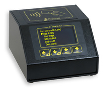 RFID Programmer for prepaid cards, wristbands and key rings.