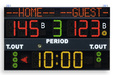 Multisport scoreboard with programmable team-names - basketball scoreboard - Electronic scoreboard