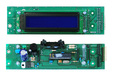CPU board with LCD display for Console art.358xx, Electronic board + LCD display for Console art.358xx, FRONT VIEW AND REAR VIEW